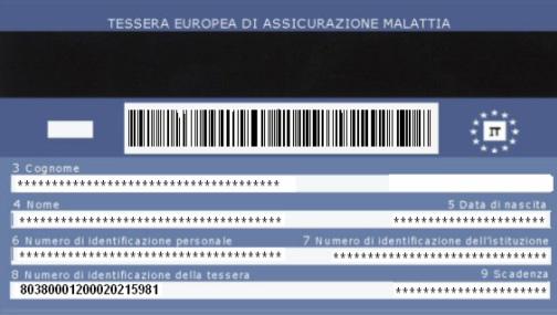 Carte Europeenne Dassurance Maladie Ceam.Carte Europeenne D Assurance Maladie Italienne